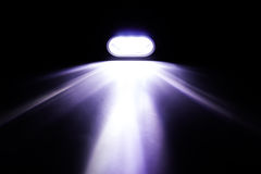 Raggio luminoso dalla torcia elettrica Fotografia Stock Libera da Diritti