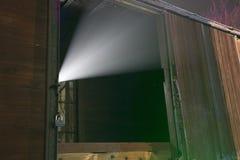 Raggio luminoso del UFO dal treno fotografia stock libera da diritti