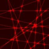 Raggio luminoso di luce laser rosso Immagini Stock