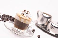 Raggiro coffy caldo Panna del caffè espresso fotografie stock