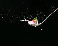 Raggiro Leche di Fresas Fotografia Stock
