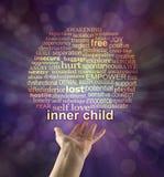 Raggiunga fuori al vostro bambino interno Fotografia Stock