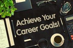 Raggiunga il vostro concetto di scopi di carriera 3d rendono Fotografia Stock
