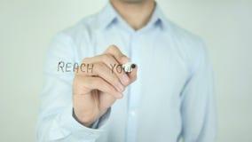 Raggiunga il vostro potenziale, scrivente sullo schermo trasparente