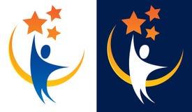 Raggiungendo per il logo delle stelle Fotografia Stock Libera da Diritti