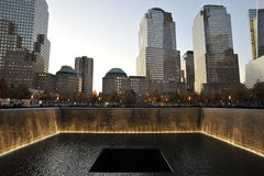 Raggruppamenti commemorativi al memoriale nazionale dell'11 settembre Immagini Stock Libere da Diritti