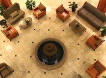 Raggruppamenti della mobilia in un ingresso dell'hotel Fotografie Stock