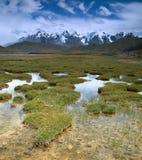 Raggruppamenti di acqua in montagne Fotografia Stock