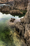 Raggruppamenti naturali di Oporto Moniz, isola della Madera, Fotografia Stock