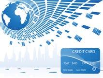 Raggruppamento delle carte di credito Immagini Stock