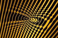 Raggruppamento di giro rapido del pericolo sviluppantesi a spiraleare (il nero e colore giallo) Fotografia Stock Libera da Diritti