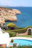 Raggruppamento e litorale del Algarve Fotografia Stock Libera da Diritti