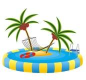 Raggruppamento esterno ed isola tropicale royalty illustrazione gratis