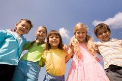 raggruppi i bambini Immagini Stock Libere da Diritti