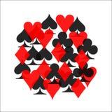 Raggruppi il vettore dell'icona del vestito della carta colorata, vettore di simboli delle carte da gioco royalty illustrazione gratis