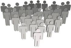 Raggruppi la gente di simbolo della popolazione 3D dell'azienda su bianco Fotografie Stock Libere da Diritti