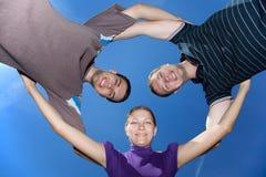 raggruppi sorridere Fotografie Stock Libere da Diritti