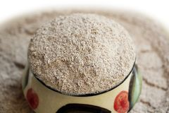 Ragi mąki Jaglany proszek zdjęcie royalty free