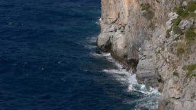 Raging blue sea Stock Photography