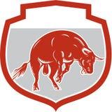 Raging Bull Jumping Attacking Charging Retro Royalty Free Stock Photos