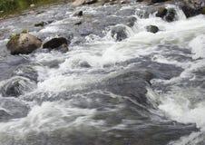 Raging creek water Royalty Free Stock Image