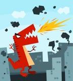 Raging Dino ilustração do vetor
