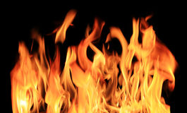 Raging fire stock photography