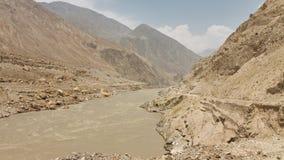Raging Indus River, Pakistan Royalty Free Stock Image