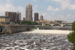 Raging Mississippi River Stock Images