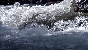 Raging Mountain river stock footage