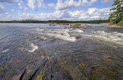 Raging Rapids in the Wilderness Stock Photos