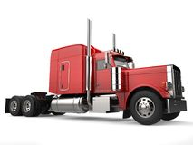 Raging red classic 18 wheeler big truck Royalty Free Stock Photography