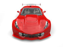Raging red endurance race car - front view Royalty Free Stock Photo
