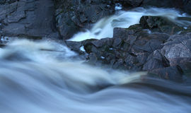 Raging River. Rapids at Duscheny Falls, North Bay, ON.Taken at dusk Stock Images