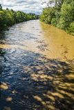 Raging Roanoke River - 4 Royalty Free Stock Image