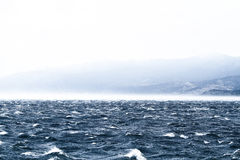 Raging sea with furious waves Royalty Free Stock Photos