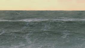 Raging seas during alaskan storm stock footage