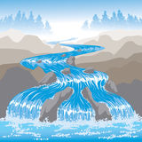 Raging Water. River waterfall Nature peaceful hills Royalty Free Stock Images