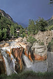 Raging wild torrent waterfall gangotri India Stock Image
