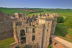 Raglan Castle. Inside Raglan Castle - Wales, UK stock images