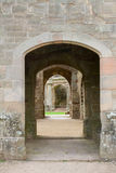Raglan castle doorways Stock Photos