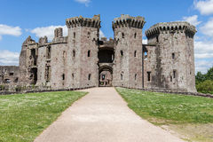 Raglan Castle Gatehouse Stock Photos