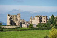 Raglan Castle a medieval castle in Monmouthshire, Wales, UK Stock Photography