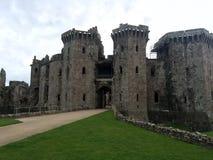 Raglan Castle. Medieval Raglan Castle in Wales Royalty Free Stock Images