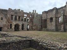 Raglan Castle. Medieval Raglan Castle in Wales Royalty Free Stock Photography