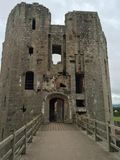 Raglan Castle. Medieval Raglan Castle in Wales Stock Image