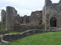 Raglan Castle. Medieval Raglan Castle in Wales Stock Photo