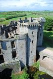 Southeast Wales - Raglan Castle ruins late medieval castle Stock Images