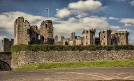 Raglan Castle ruins,  Monmouthshire, Wales Royalty Free Stock Photography