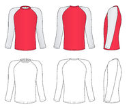 Raglan kokert-shirt vector illustratie